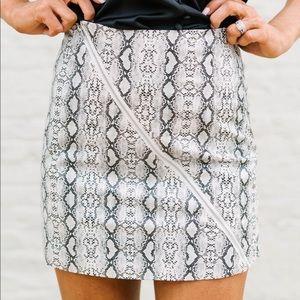 Dresses & Skirts - Snakeskin mini skirt